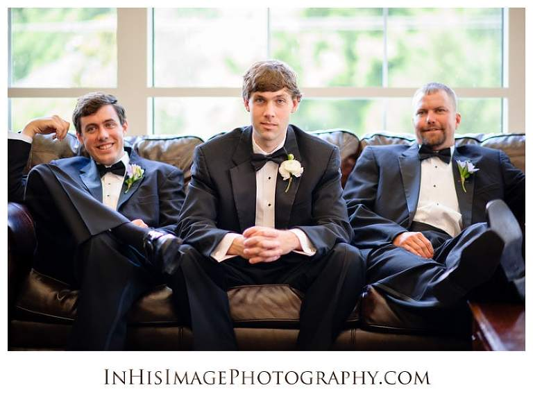 Groomsmen before the wedding ceremony