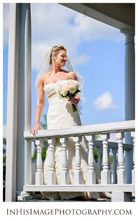 Stunning bridal portrait before wedding ceremony