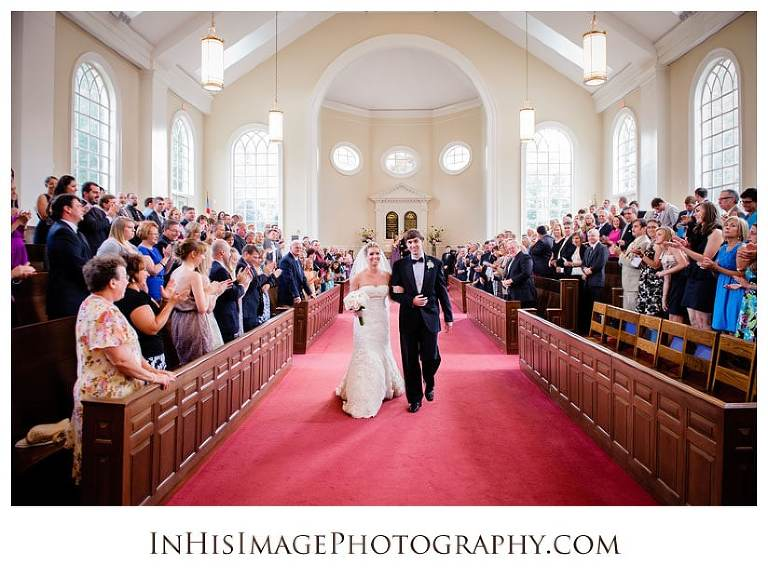 Bride and Groom wedding recessional