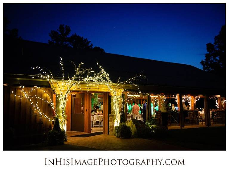 Wedding reception at the Pavilions at the Angus Barn