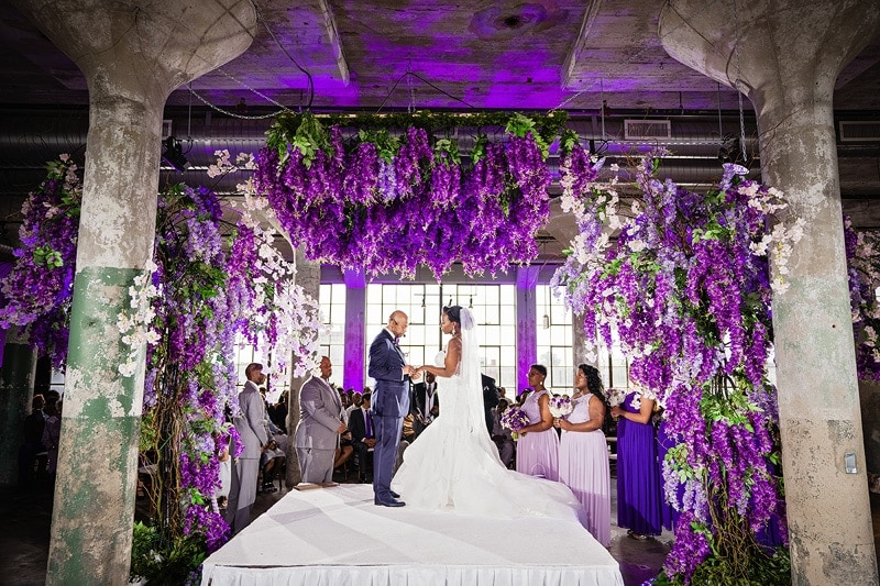 Loft at Plant 7 wedding ceremony