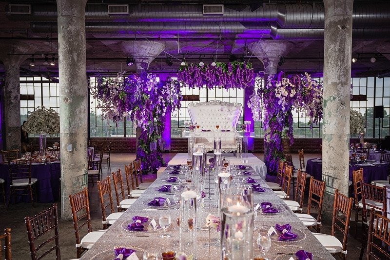 Loft at Plant Seven wedding decor